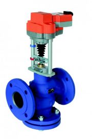 Globe valves with linear actuator